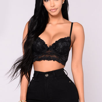 Romantic Bells Bra - Black