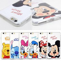 Cartoon Mickey Minnie Disney Phone Case Skin Cover For iPhone 5 6 6S 7 8 Plus