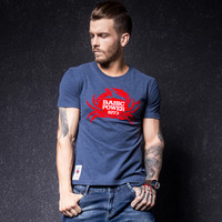 Print Short Sleeve Stylish Men's Fashion Round-neck T-shirts [10488639747]
