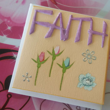 Birthday Card Faith Mini Card - Handmade Cards - Any occasion cards - Made in Australia - unique cards  -  Mini Cards