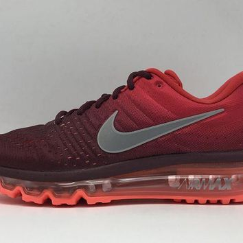 Nike Mens Air Max 2017 Running Shoes Gym Red/night Maroon-grey 849559-601 - Beauty Ticks