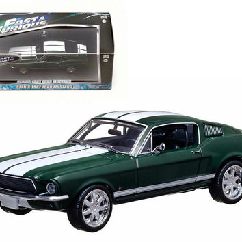 "Sean's 1967 Ford Mustang ""The Fast and The Furious"" Movie (2006) Tokyo Drift 1-43 Diecast Car Model by Greenlight"