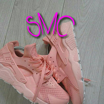 Nike Air Huarache Nike Shoes Sneakers Painted Trainers Originals Sprayed Sneakers Women's Sneakers Customized Trainers