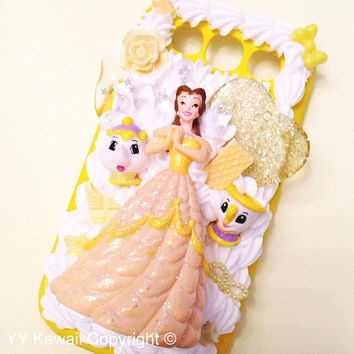 Disney Princess Kawaii Decoden Phone Case for IPhone 4/4s 5, samsung galaxy S2 S3 S4 Cinderella, Ariel, Snow White and more
