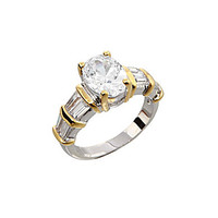 Dillard's Boxed Collection Oval-Cut Cubic Zirconia Ring