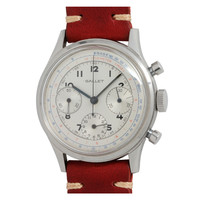 Gallet Stainless Steel Chronograph Wristwatch circa 1950s