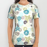 A Walk on the Beach All Over Print Shirt by Noonday Design | Society6