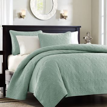 Monterey Sea Foam Green Quilt Set