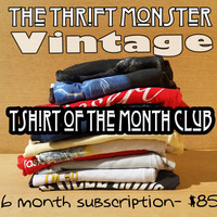 Vintage Mystery TShirt of the Month Club - 6 month subscription - Unique Gift Idea