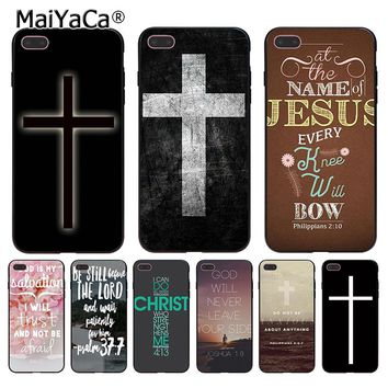 MaiYaCa Bible verse Philippians Jesus Christ Christian 2 Coque Shell Phone Case for iPhone 8 7 6 6S Plus X 5 5S SE 5C Cover