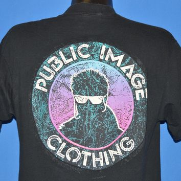 90s Public Image Clothing Neon Double Sided t-shirt Large
