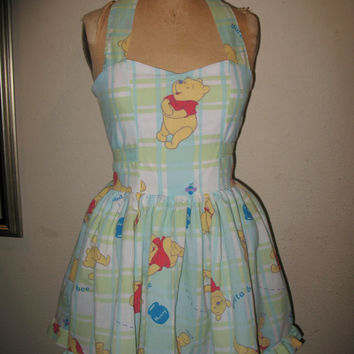 Custom Made to order Gotta Bee Me Winnie The Pooh Sweetheart Ruffled Mini Dress