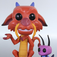 Funko Pop Disney, Mulan, Mushu and Cricket #167