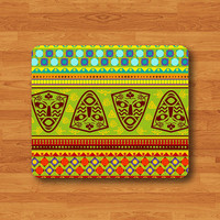Coloful AFRICAN AZTEC Tribal Geometric Pattern Mouse Pad Native Art MousePad Desk Deco Work Pad Mat Rectangle Personal Gift Love The Day