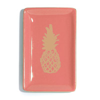 Coral Pineapple Trinket Dish
