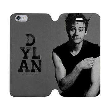 DYLAN O'BRIEN Wallet Case for iPhone 4/4S 5/5S/SE 5C 6/6S Plus Samsung Galaxy S4 S5 S6 Edge Note 3 4 5