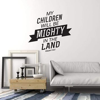 Vinyl Wall Decal Bible Verse Psalms Religion Art Interior Prayer Room Stickers Mural (ig5777)