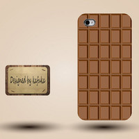iphone case, i phone 4 4s 5 case,cool cute iphone4 iphone4s 5 case,stylish plastic rubber cases cover,brown  chocolate funny case p1052