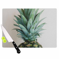 """Chelsea Victoria """" The Pineapple"""" Green Gold Cutting Board"""