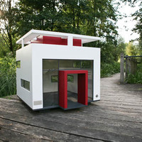 Dog house, bauhaus design