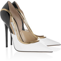 Jimmy Choo | Viper patent-leather pumps  | NET-A-PORTER.COM