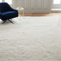 Cozy Plush Rug - White