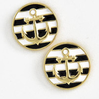 Anchor Striped Earrings