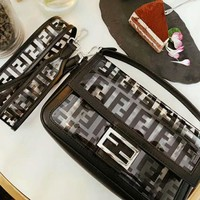 FENDI High Quality Summer Hot Sale Women Personality Transparent Shoulder Bag Jelly Bag Crystal Bag