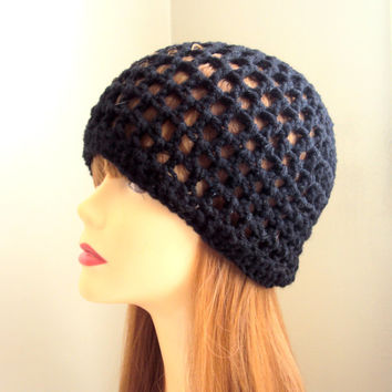 Crochet Hat  Spring Summer Beanie Black Festival Hat Women Men Hair Accessories Mother's Day Gift