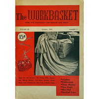 Workbasket October 1955 Volume 21 Number 1 Magazine Knit Needlecraft Gift wb211