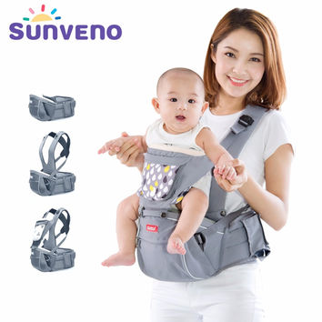 SUNVENO Designer Baby Carrier Infant Toddler Front Facing Carrier Sling Kids Kangaroo Hipseat Baby Care 0-36Months
