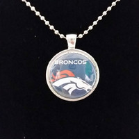"Denver Broncos 1"" Pendant Necklace"