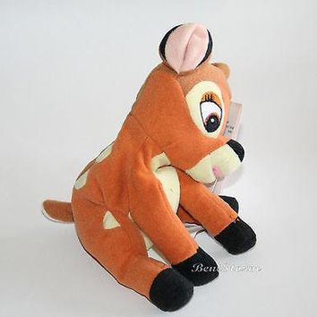 "Licensed cool NEW Disney Store Exclusive 8"" Bambi Doe Deer Mini Bean Bag plush Easter toy doll"