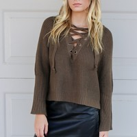 Hawthorn Forest Green Long Sleeve Sweater