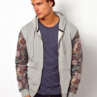 River Island | River Island Sweat with Floral Sleeves at ASOS