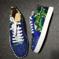 Cl Christian Louboutin Low Style #2038 Sneakers Fashion Shoes - Best Deal Online