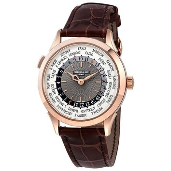 Patek Philippe Complications Automatic World Time Gold Mens Watch 5230R