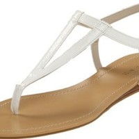 Nine West Women's Weightless Thong Sandal,White,8 M US