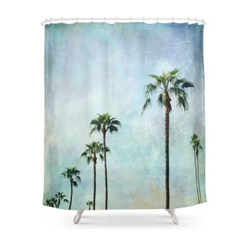 Society6 Palm Trees Shower Curtain