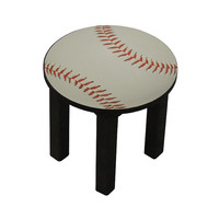 Childrens stool. Baseball chair for kids. Baseball theme