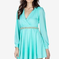 Paige Flirty Paisley Embossed Dress
