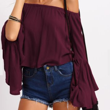 Burgundy Belle Top