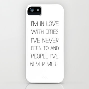 I'm in love with cities. iPhone & iPod Case by Sara Eshak