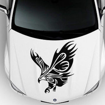 Car Hood Vinyl Decal Graphics Stickers Art Mural Tribal Birds Eagle KJ12