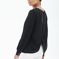 FOREVER 21 Twist-Back Chiffon Top