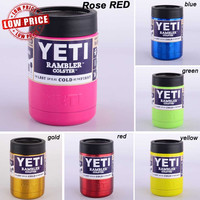 12oz YETI COLSTER POWDER COATED CAN KOOZIE 12OZ - 10 COLORS + FREE SHIPPING