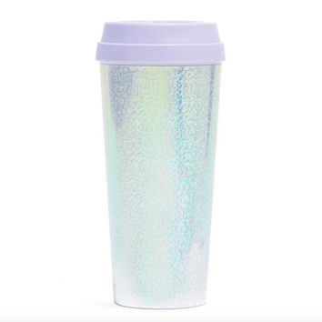 ban.do 'hot stuff' thermal travel mug holographic