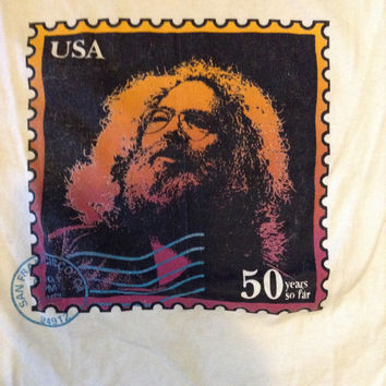 Grateful Dead Jerry Garcia Vintage 1992 Shirt