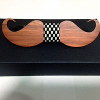 Men tie the best accessories pure wooden hand novelty Beard Man's tie