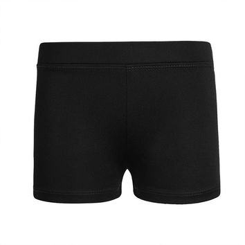 Hot Shorts Hot Children's Clothes Boy-cut Skinny Low Rise Activewear Girls Dancing Class  Sports Active Workout Cut Gymnastic AT_43_3